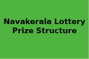 Nava Kerala Lottery Prize Structure and result 3.10.2018