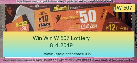 Win Win Lottery W 507 Result 8.4.2019
