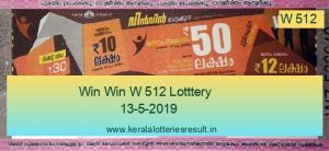 Win Win Lottery W 512 Result 13.5.2019