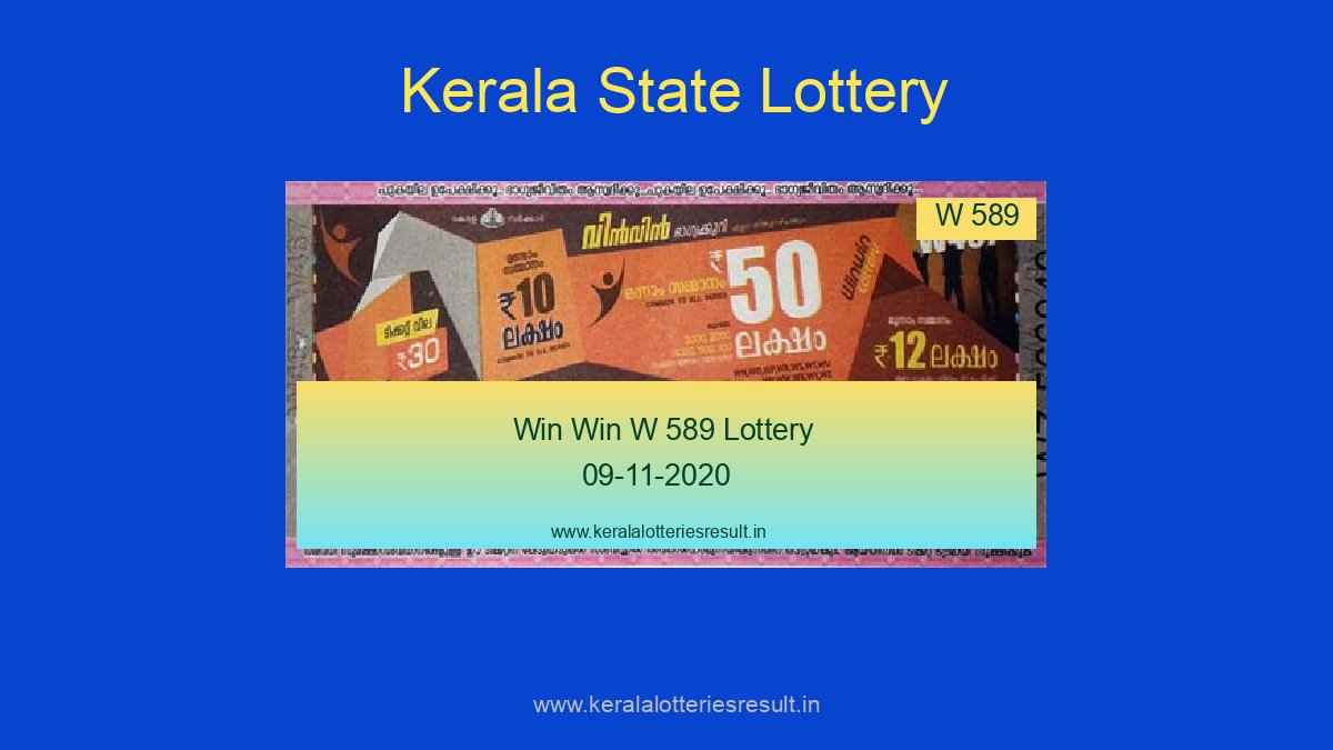 Win Win Lottery W 589 Result 09.11.2020 (Live)