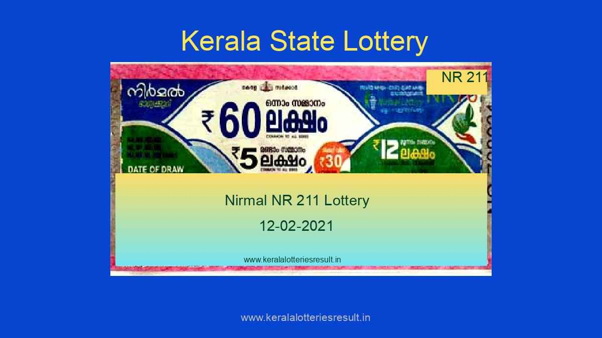 Nirmal Lottery NR 211 Result Today 12.02.2021 (Live)
